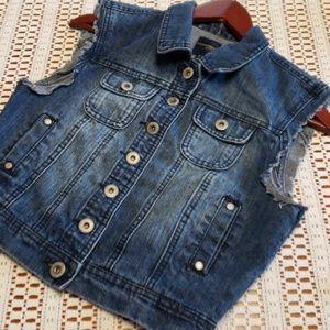 Highway jeans denim vest size medium
